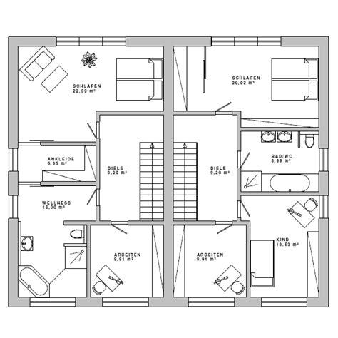 Grundriss Doppelhaus Ebenerdig by Grundriss Mfh Doppelhaus Bauhaus 18 Og Architektur