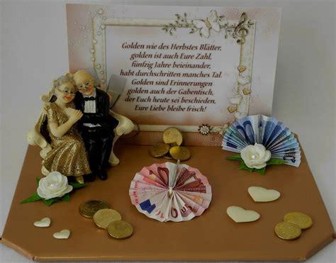 Geschenk Goldene Hochzeit by Elegante Geschenke Zur Goldenen Hochzeit Verpacken