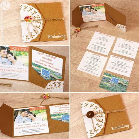Hochzeitseinladung Selbst Basteln by Einladung Hochzeitseinladung Hochzeit Karte