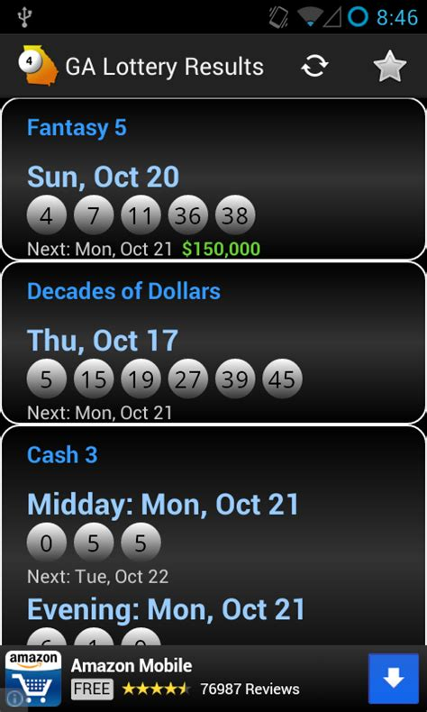 ga lottery app for android ga lottery results android apps on play