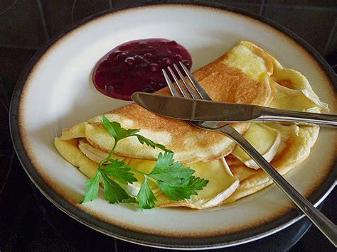 eier kuchen eierkuchen mit camembert 252 berbacken rezept mit bild