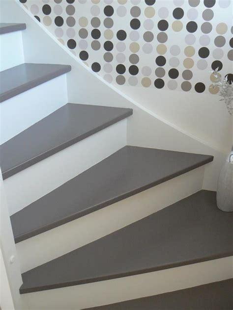 Escalier Peint En Gris d 233 licieux escalier en bois peint en gris 0 frederic