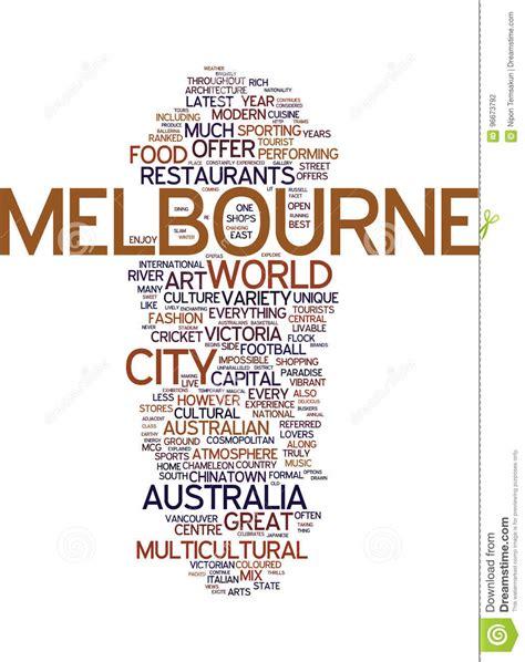 cosmopolitan word melbourne the cosmopolitan capital of australia text