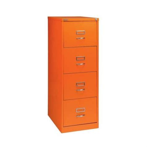 Orange Filing Cabinet Glo By Bisley Bs4c Filing Cabinet 4 Drawer H1321mm Orange Bs4c Orange