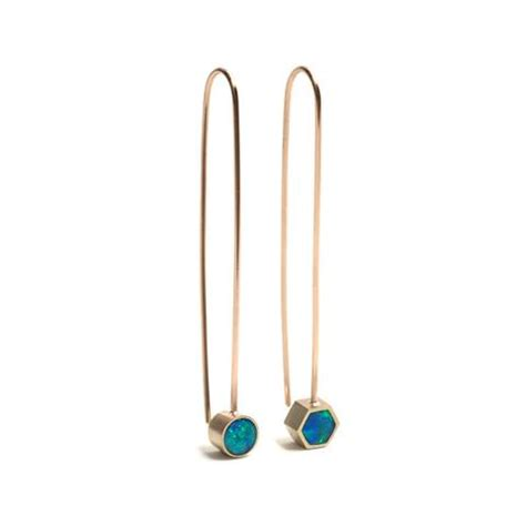 Asymmetric Drop Earrings asymmetric opal drop earrings
