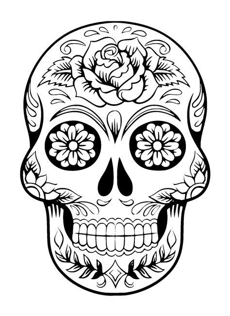 black and white skull tattoos sugar skull black and white www imgkid the