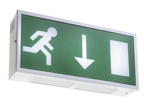 self contained exit light ese slim self contained exit signs