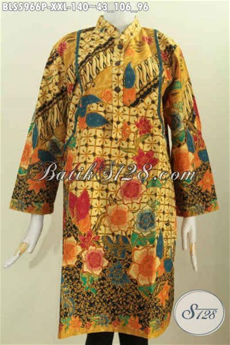 Blus Batik Shanghai Panjang 78 blus batik elegan cocok buat kerja dan acara resmi model kerah shanghai lengan panjang motif