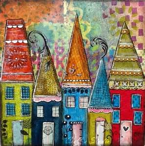 Colorfu Houses Painting gallery for gt whimsical houses art