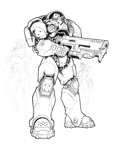 starcraft terran marine by jelli76 on deviantart