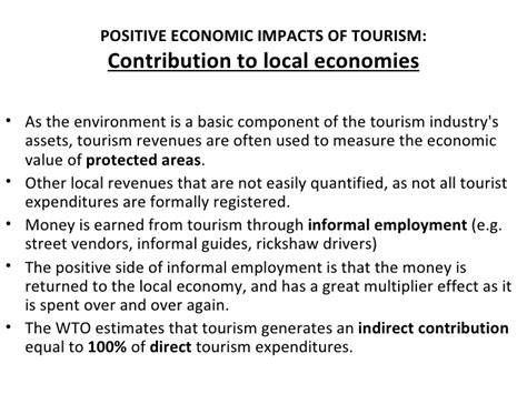 Positive And Negative Aspects Of Tourism Essay by Economic Impact Of Tourism