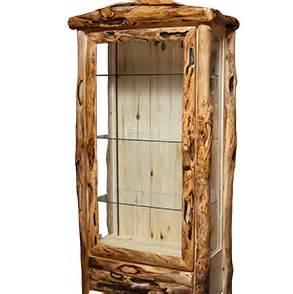 Rustic Corner Curio Cabinets Curios And Cabinets Rustic Log