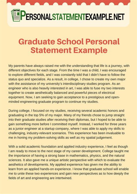 graduate school personal statement sle essays 44 personal goals essay for graduate school statement of