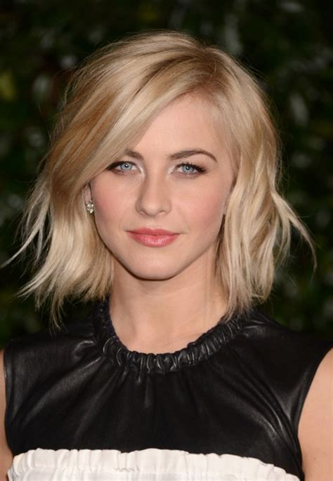 juliannehough curly bob julianne hough short choppy wavy bob hairstyle with bangs
