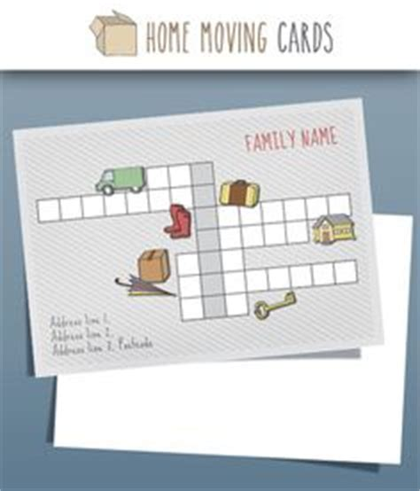 moving home cards template 1000 images about change of address cards templates on