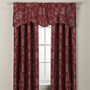 And Valance Jacobean Rod Pocket Back Tab Window Curtain Panel And