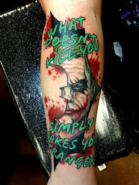 tattoo prices dc joker heath ledger dark knight dc comics tattoo by steve