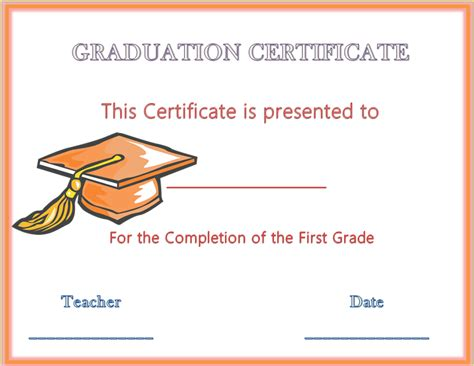 Hats Off Graduation Award Certificate