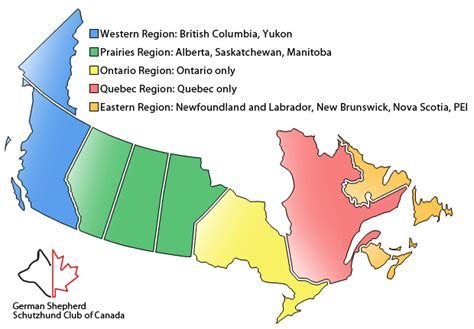 regional map of canada regions and clubs