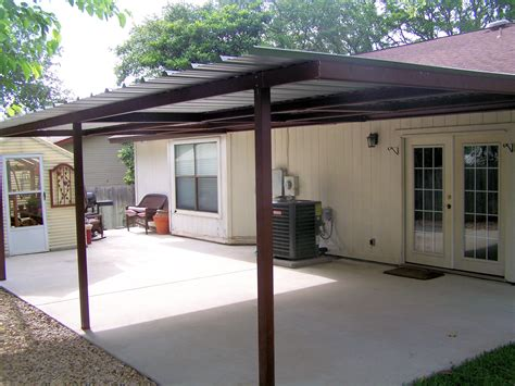 How To Build A Patio Cover Attached To House by Attached Lean To Patio Cover West San Antonio