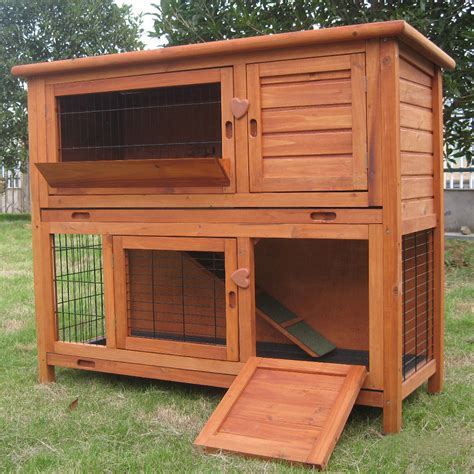Outdoor Guinea Pig Hutch Plans 4ft large rabbit hutch guinea pig run deluxe pet hutches cage pets ebay