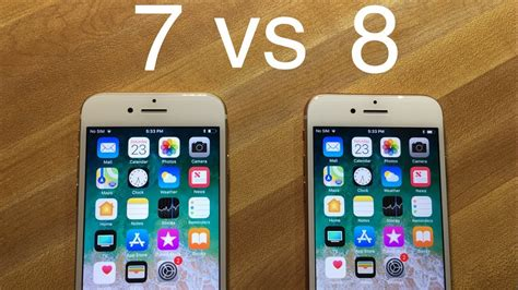 iphone 8 vs iphone 7 speed test comparison