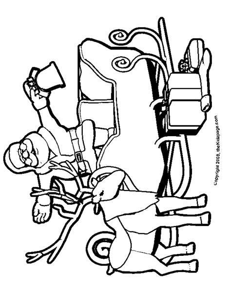 free coloring pages of santa s sleigh santa and reindeer coloring page az coloring pages