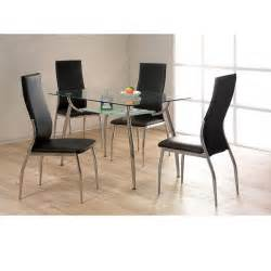 Glass Dining Table Chairs Cheap Heartlands Lazio Glass Small Dining Table Set 4 Chairs For Sale