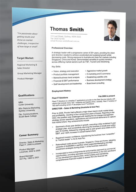 Resume Templates For It Professionals Free by Professional Resume Template Free Can Help You To Start Your Career