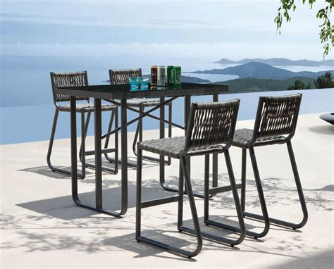 Patio Table Size Counter Height Outdoor Dining Table Set Chairs Seating