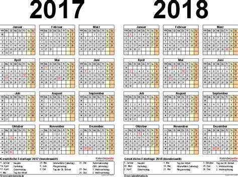 Word Vorlage Jahreskalender 2018 Zweijahreskalender 2017 2018 Als Word Vorlagen Zum Ausdrucken