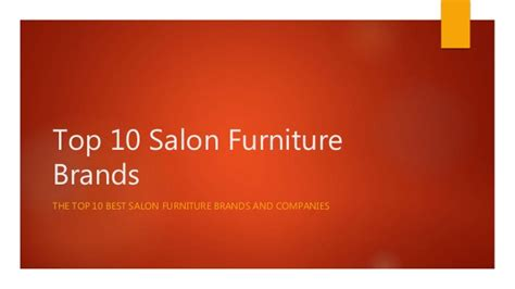 best furniture brands top 10 salon furniture brands