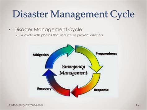 Mba Emergency Management by Disaster Management Cycle Uthayam