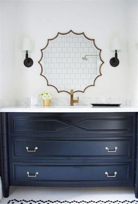 Apartment Therapy Bathroom Vanity Trend Alert Navy Marble Brass In The Kitchen Bath Apartment Therapy Marbles And Therapy