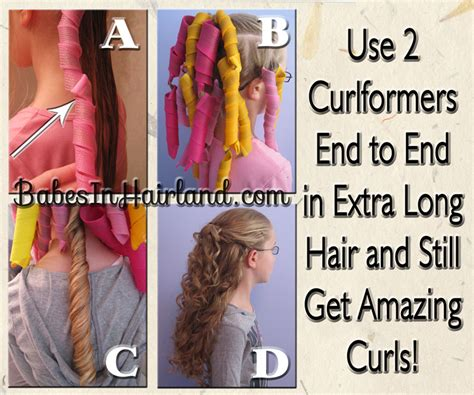 how to put rollersin extra short hair extra long hair curlformers curlformers experiment