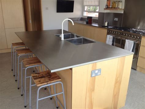 kitchen island worktops a great looking stainless steel island worktop here with