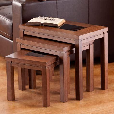 walnut nest of tables furniture nevada nest of tables in walnut furniture123