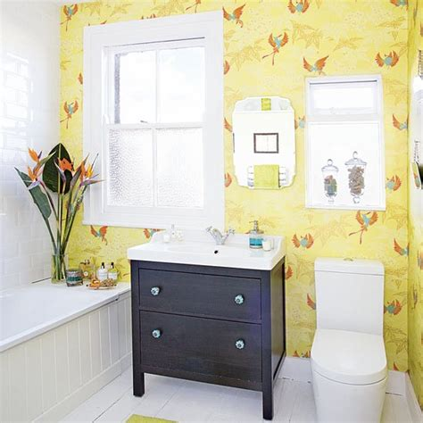 yellow bathroom vanity modern yellow bathroom with black vanity unit