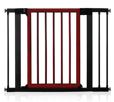 baby gate with swing door new dark wood steel safety gate swing door walk thru fence