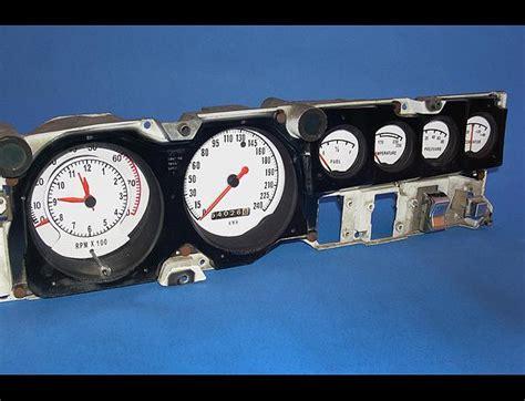 car maintenance manuals 1970 dodge charger instrument cluster 1968 1970 dodge charger metric kph kmh dash instrument cluster white face gauges