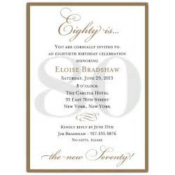 classic 80th birthday gold invitations paperstyle