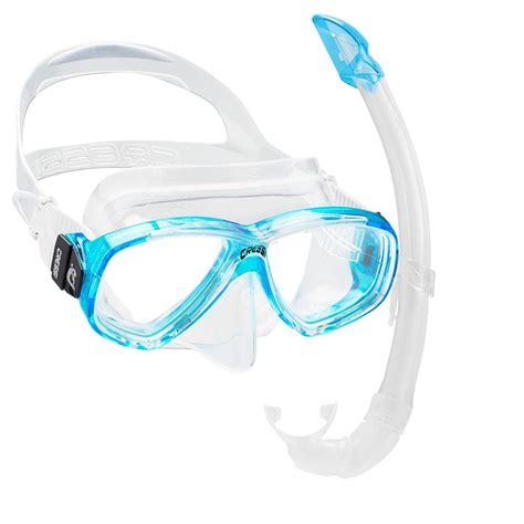 cressi dive mask cressi perla mare snorkelling scuba mask and snorkel