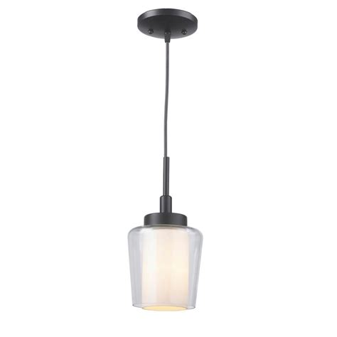 Bronze Mini Pendant Lights World Imports 1 Light Rubbed Bronze Mini Pendant With Glass Shade Es0009ob4 The Home Depot
