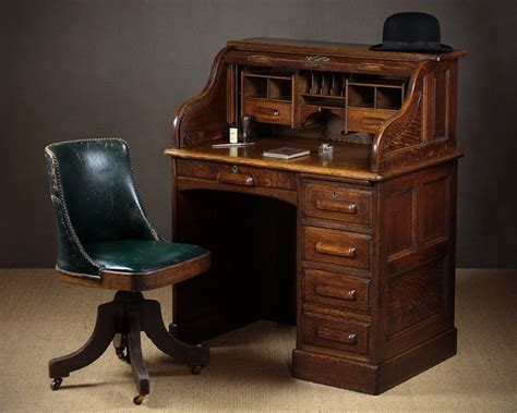 small rolltop desk small early 20th c oak roll top desk c 1920 346188