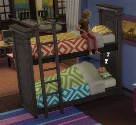 download sims 4 cc bunk beds martine simblr functional bunk bed sims 4 downloads