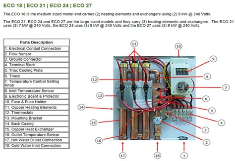 eco tankless water heater wiring diagram get free image