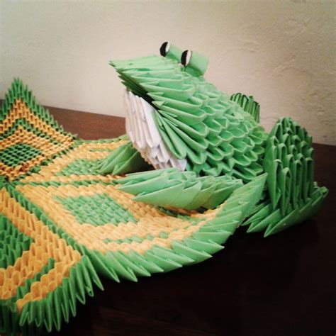 3d Origami Frog - 3d origami frog by taimagroo on deviantart
