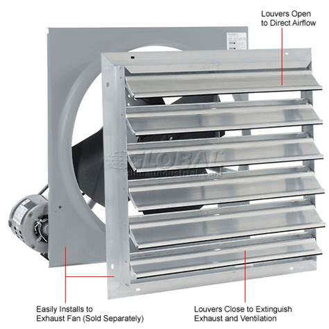 12 inch exhaust fan with louvers exhaust fans ventilation exhaust fans shutter