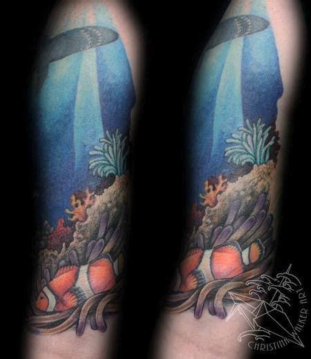 quarter sleeve ocean tattoo lucky bamboo tattoo tattoos half sleeve ocean half