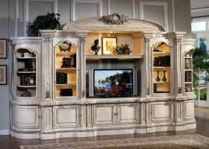 Sauder Cabinets White Large White Ornate Tv Entertainment Center Wall Unit Tv